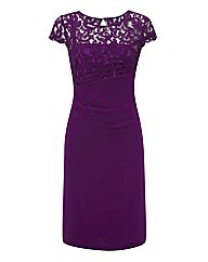 Vera Mont Lace & Jersey Crepe Dress
