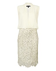 Montique Chiffon & Lace Dress