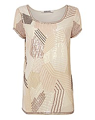 Gray & Osbourn Beaded & Sequinned Top