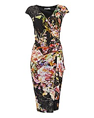Michaela Louisa Floral Wrap Dress