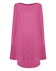 Gina Bacconi Draped Overlay Dress