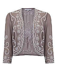 Chesca Embellished Chiffon Shrug