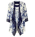 Chesca China Blue Silk Jacket & Top Set