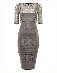 Montique Lace & Jersey Bandage Dress