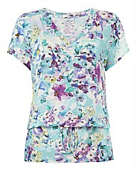 Tessy Floral Jersey Beach Dress