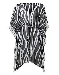 Pia Rossini Zebra-print Kaftan