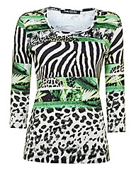 Betty Barclay Multi-print Jersey Top
