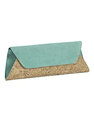 HB Shoes Suede & Cork Clutch Bag