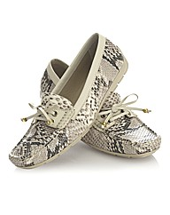 Capollini Snake Print Loafers