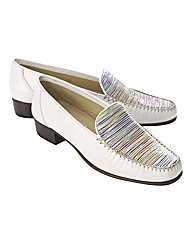 HB Shoes Stripe Vamp Loafers