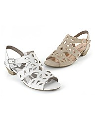 Gabor Cut-out Leather Sandals