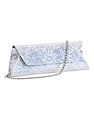 HB Shoes Lace-print Leather Clutch Bag