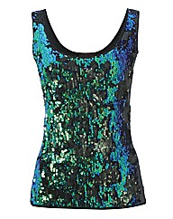Murek Peacock Sequin Top