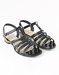 Van Dal Braid-trim Leather Sandals