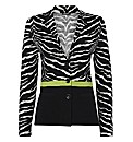 Gerry Weber Woven Cotton Zebra Jacket