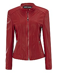 Gerry Weber Perforated Leather Jacket