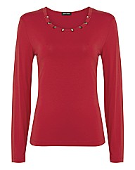 Gerry Weber Jersey Trimmed-collar Top