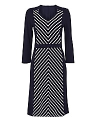 Gerry Weber Chevron Stripe Jersey Dress