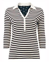 Olsen Stripe Polo Top