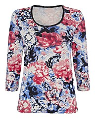 Betty Barclay Floral Jersey Top