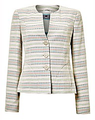 Soft Stripe Jacquard Jacket