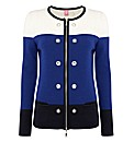 Basler Colour-block Wool Jacket