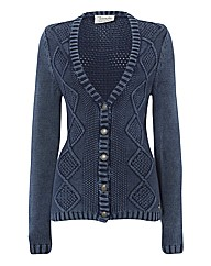 Betty Barclay Cable-knit Cotton Cardigan