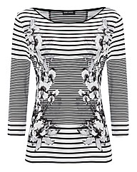 Gerry Graduated Stripe Jersey Top