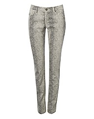 Passport Lizard-print Stretch Trousers