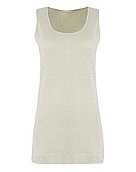 Passport Shimmer-knit Sleeveless Top