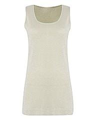 Passport Shimmer-knit Sleeveless Top