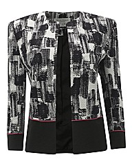 Helene Berman Ribbed Jacquard Jacket