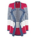 Basler Stripe Waterfall Cardigan