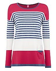 Basler Colour-block Stripe Tunic