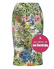 Helene Berman Floral-print Pencil Skirt