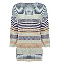 Gray & Osbourn Multi-knit Stripe Jumper