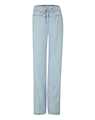 Apanage Washed Denim-look Trousers