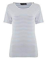 Apanage Stripe Jersey Top