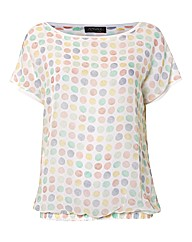 Apanage Circles Chiffon Top