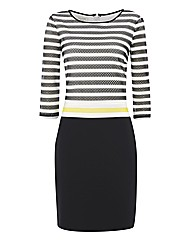 Apanage Mesh Stripe Jersey Dress