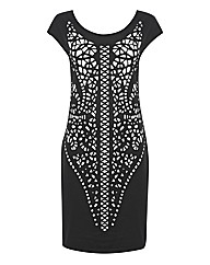 Apanage Laser-Cut Jersey Dress