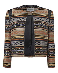 Helene Berman Aztec woven Jacket