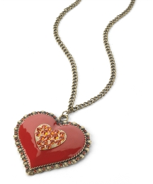 Petal Dolls Red Heart Necklace