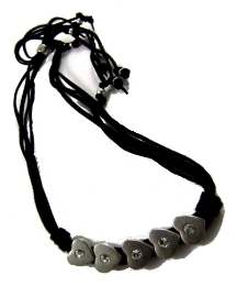 Funky Jewellery Short Leather Necklace