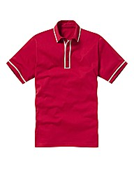 Jacamo Piped Polo Shirt Long