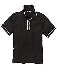 Jacamo Piped Polo Shirt Long