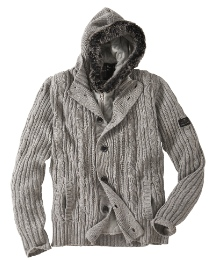 Hamnett Full Zip Hooded Knit