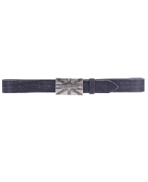 Religion Black Leather Patriotic Belt