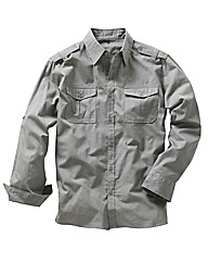 Jacamo Long Sleeve Military Shirt XLong