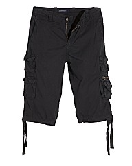 Jacamo Black 3/4 Cargo Pants